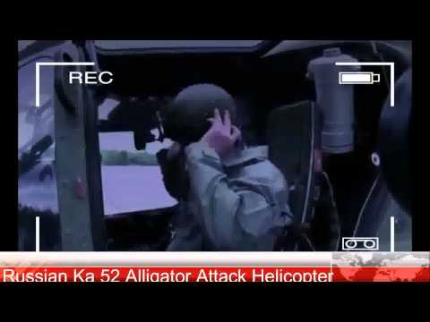 Russian military Ka 52 Alligator Attack Helicopter