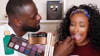 My Boyfriend Does My Makeup LMAOOO I'm...| Jackie Aina