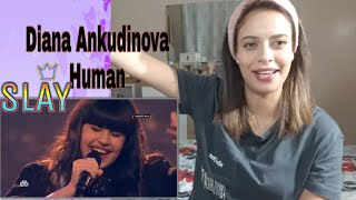 Diana Ankudinova Human/ Диана Анкудинова/VOCALIST REACTION