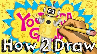 How To Draw Plex From Yo Gabba Gabba | Drawing Coloring Learning | JUNIORS TOONS