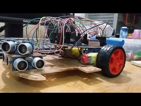 Autonomous arduino car maze solving with 3 ultrasonic