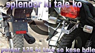 how to change splendor plus tale into pulsar 135 tale must watch