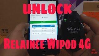 Unlock Reliance Wipod 4G LTE || Use Jio sim in Wipod ||