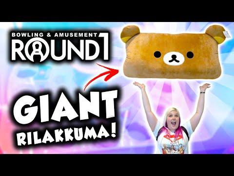 GIANT Rilakkuma at Round 1 arcade - Let39s WIN it!