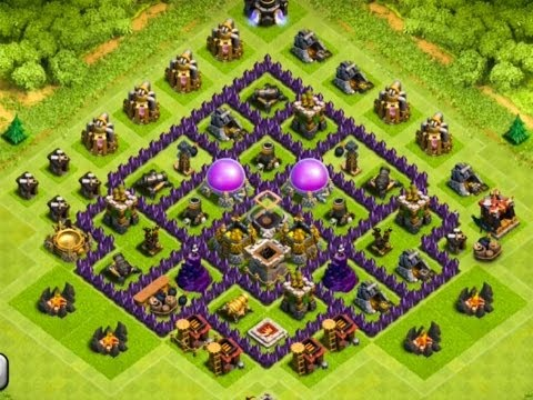 Clash Of Clans - EPIC TOWN HALL 7 Farming Base !