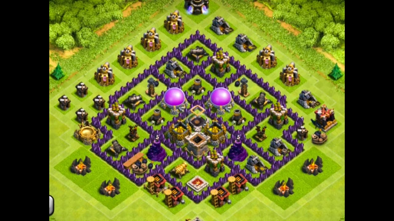 Clash Of Clans - EPIC TOWN HALL 7 Farming Base ! - YouTube