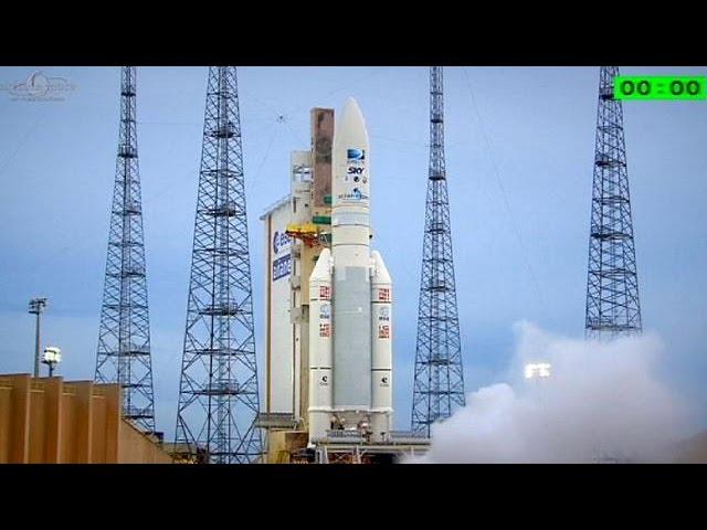 موشک آریان پنج به فضا پرتاب شد