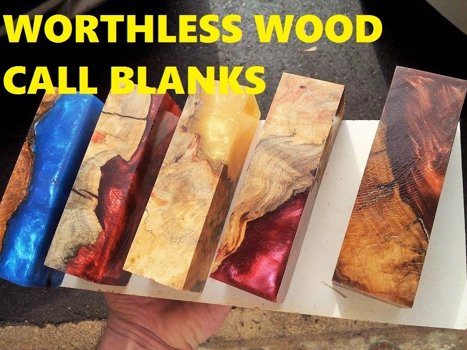 Alumilite Casting Worthless Wood Into Call Blanks For Duck Deer Calls Youtube
