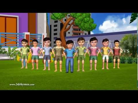 Ten Little Indians - 3D Animation English Nursery Rhyme Song For Children With Lyrics
