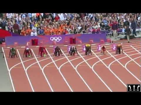 Usain Bolt London Olympics 2012 Men's 100 metre Semi Finals Heat 2