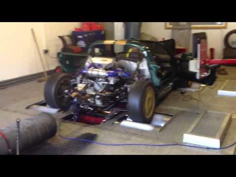 Lotus Elise hayabusa turbo dyno run