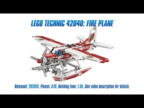 'Lego Technic 42040: Fire Plane' Unboxing. Speed Build & Review