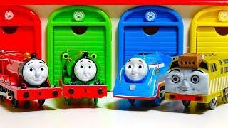 Learn Colors With Thomas & Friends toys きかんしゃトーマスで英語の色を覚えよう!子ども向けおもちゃ動画