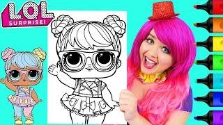 Coloring LOL Surprise Dolls Bon Bon Coloring Page Prismacolor Markers | KiMMi THE CLOWN