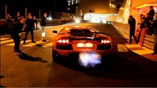 DMC Aventador LAUNCH CONTROL + FLAMES In Monaco!