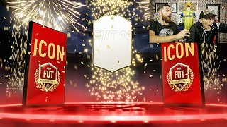 ICON PACKED IN MY TOP 100 FUT CHAMPIONS REWARDS w/ Spencer FC!!!! FIFA 19 WEEKLY PACK OPENING!!