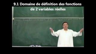 EPST ANNABA. COURS ANALYSE. 1ERE ANNEE . CHAPITRE 9. FONCTIONS DE PLUSIEURS VARIABLES. DVD 1/10