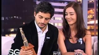 Paola Krum, Joaquín Furriel y Pablo Echarri premiados - Susana Giménez 2007