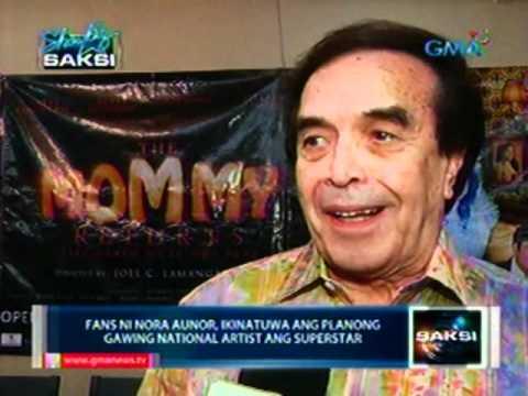 Saksi: Superstar Nora Aunor, gustong gawing National Artist ni Rep. Anthony Gonzales