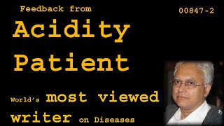 Feedback from Acidity patient - Relief in 2 days - Health00847-2