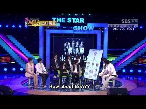 """[eng sub] 080526 SBS Star Show - TVXQ, """"BoA sunbae-yahh"""""""