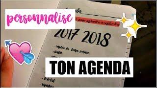 PERSONNALISE L'INTERIEUR DE TON AGENDA! //BACK TO SCHOOL 2017
