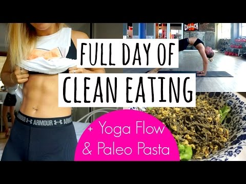 Full Day Of Clean Eating | Paleo Pasta + De-Stress Yoga Flow
