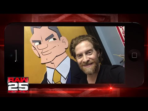 Seth Green gives a shout out to the WWE Universe for Raw 25 thumbnail