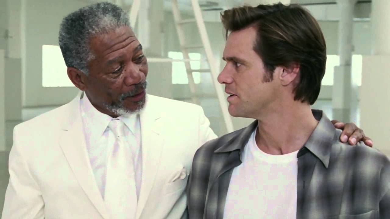 Bruce Almighty - Jim Carrey meets God (HD) - YouTube