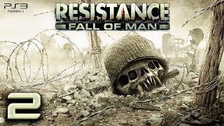 Resistance: Fall of Man (PS3) - 720p60 HD Playthrough Episode 2 - Grimsby