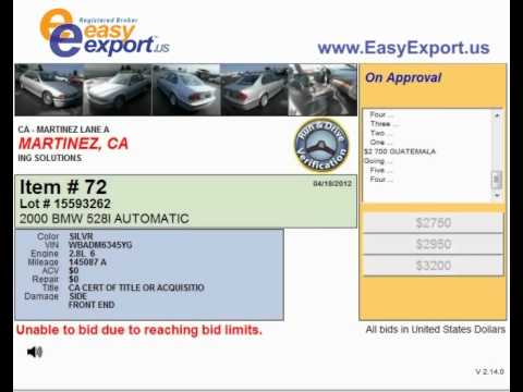 Car Auction in Martinez CA - an Option for the Car Buyers
