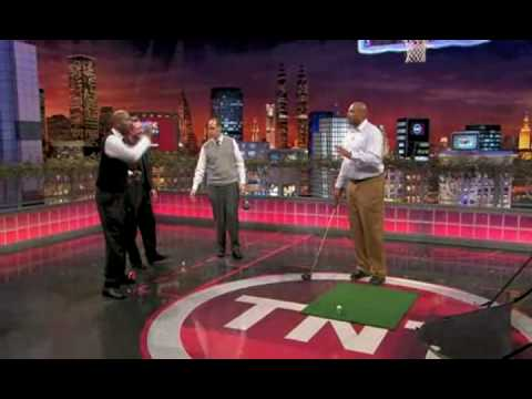 Inside The NBA: Charles Barkley's Crazy Golf Swing Revisted...  and Improved?