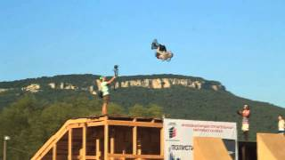 Russian Mega ramp - Grisha Lobko with double backflip