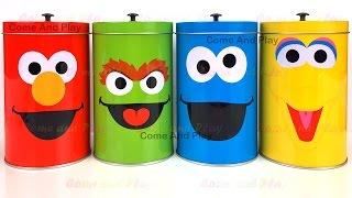Sesame Street Tin Surprise Toys with Anpanman Disney Minnie Mouse and Thomas Toys