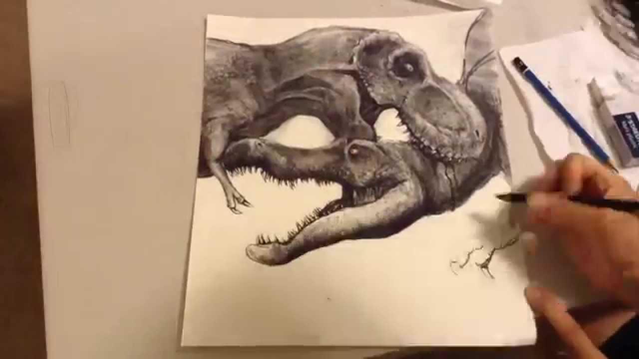 Spinosaurus vs t Rex Drawing T-rex vs Spinosaurus Drawing