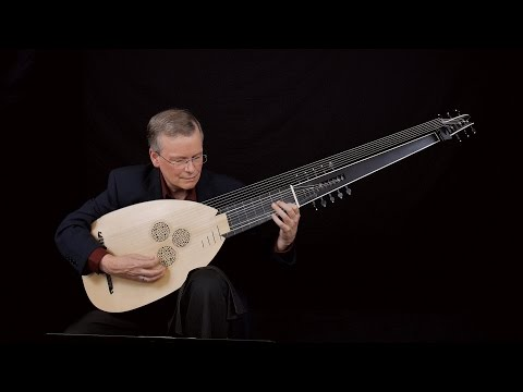 """J.S. Bach: Prelude in C Minor """"pour le luth"""" BWV 999;  David Tayler, archlute"""