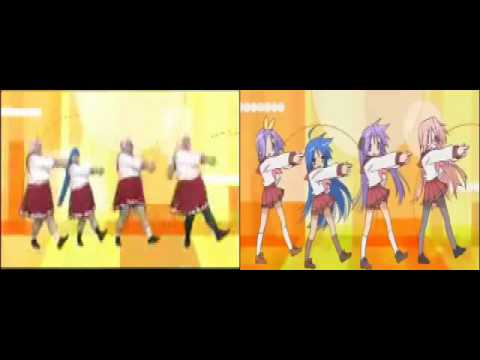 Lucky Star - Live-Action OP Parody (Side-by-side ...