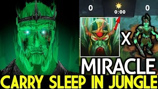 Miracle- [Wraith King] When Pro Sleep in Jungle from 0:00 King of Cancer 7.21 Dota 2