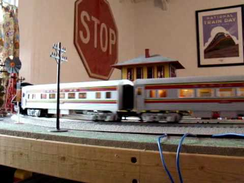 Running my O scale trains on Thanksgiving 2009