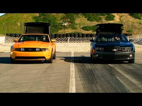 2011 Chevrolet Camaro SS Convertible vs 2011 Ford Mustang GT Convertible Music Videos