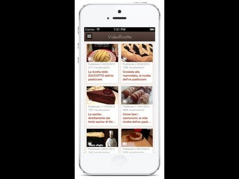 Video Ricette Dolci App Per iPhone e Android