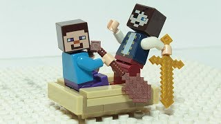 Lego Minecraft Steve Brick Building Pirate Ship Animation