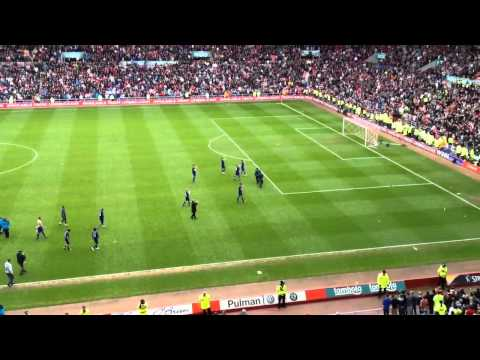 Sunderland V Man Utd The Final whistle blows at the stadium of light & Sunderland fans cheer Man City winning the premier league title from Man Utd. Sunderla...