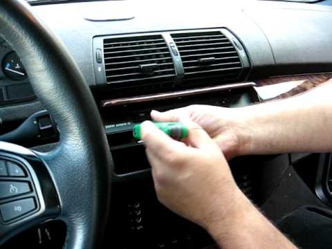 How to Remove Radio / Display / CD Player / Navigation from 2004 BMW X5 for Repair