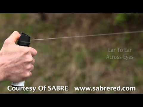Pepper Spray Demo: Stream Pattern (SABRE)  - View the stream spray pattern of a SABRE spray.