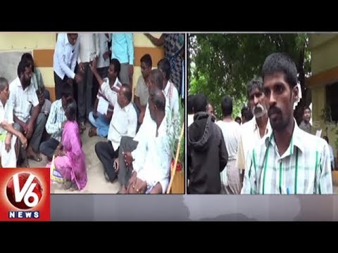 Husnabad Woman Farmer Protest Against Govt Officials Over Land Registration | V6 News