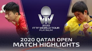Ma Long/Xu Xin vs Tomokazu Harimoto/Masataka Morizono | 2020 ITTF Qatar Open Highlights (1/4)