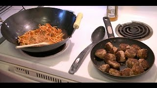 Fried Spaghetti & Meatballs (Delicious Cooking Recipes)