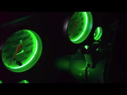 GREEN LED INSTRUMENT CLUSTER LIGHTS