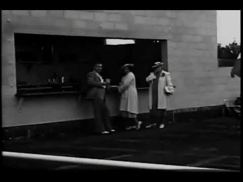 Vintage clip of Hampton Beach State Bathhouse